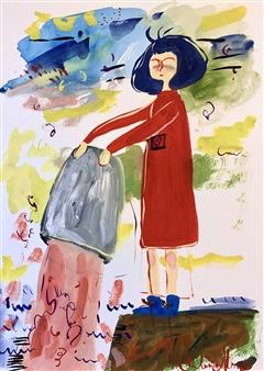 Milana Alaro - Risks Gouche on Paper, Paintings