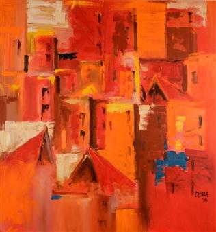 Vasant Dora - Quinta Essentia Oil on Canvas, Paintings