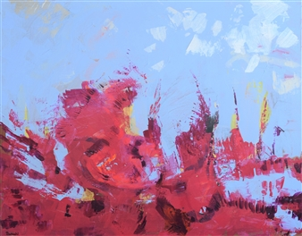 Barbara Wykrota - Sans Titre 2014-6 Acrylic on Canvas, Paintings