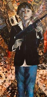 Claudia Mayer-Mallenau - Matrix Acrylic, Collage & Mixed Media on Canvas, Mixed Media