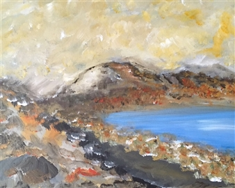 Karen Kanas - Northern Coast Acrylic on Canvas, Paintings