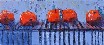 Olena Bogatska - The Mandarins Oil on Canvas, Paintings