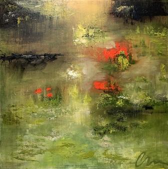 Charlene Falk - Where We Walk IV Oil on Canvas, Paintings