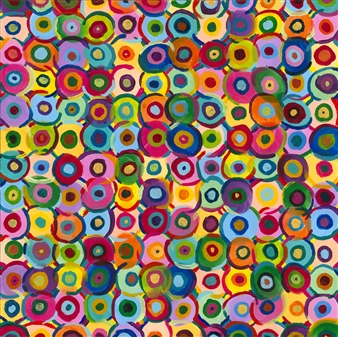 Travis Ballantyne - Circles Acrylic on Canvas, Paintings