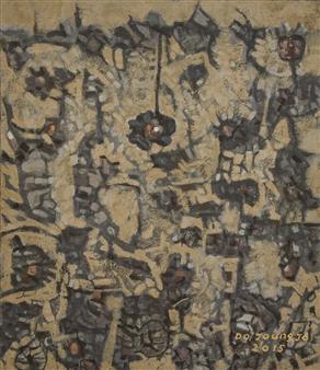 Soilart Jo-DoJoong - Knar 7 Soil on Canvas, Paintings
