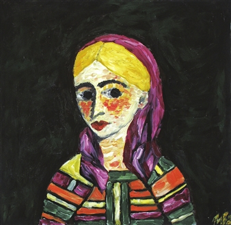 Iva Milanova - Costume Oil on Canvas, Paintings