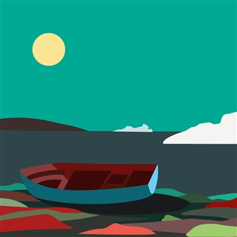 Phil Leith-Tetrault - Boat Wreckage Near Battle Harbour, Labrador Digital Print on Paper, Prints