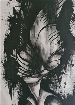 Konka - Soaring Wings Acrylic on Canvas, Paintings