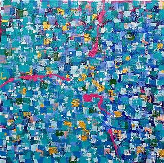 Belle Roth - India AM 1.1 Acrylic on Canvas, Paintings