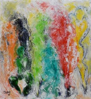 Vasant Dora - Untitled 03 Oil on Canvas, Paintings