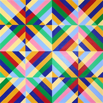 Osvaldo Bacman - The Mystery of Geometry #6 Acrylic on Canvas, Paintings
