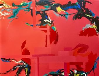 Cristina Prieto Crespi - Natura II Oil on Canvas, Paintings