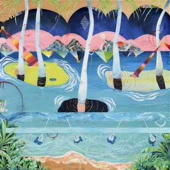 Jennifer Valenzuela - Behold This Lovely World Oil on Panel, Paintings