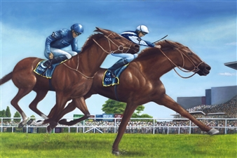 JANINA Leigue - The Racing Oil on Canvas, Paintings