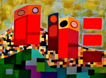 J.H. Rebelato - E 206B Oil on Canvas, Paintings