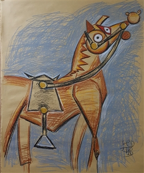 Seo - Horse (2) Colored-Pencil, Drawings