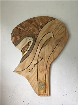 Craig Freeman - Ecce Agnus Dei Wood,Yarn, Acrylic, Sculpture