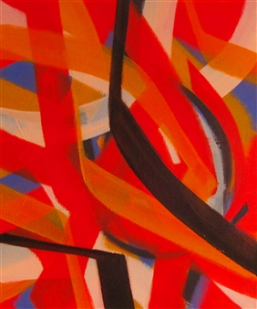 Akihito Izumi - Composition-2 Oil on Canvas, Paintings