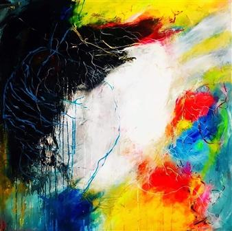 Grażyna Aneta Ochowiak - Creation of Life Acrylic & Mixed Media on Canvas, Mixed Media