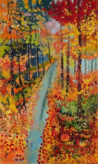 Mira Seeman - Forest Trail Oil on Canvas, Paintings