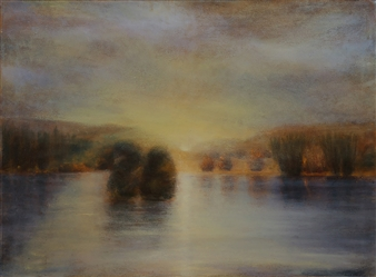 Margret Carde - The Marsh at Dusk Oil on Canvas, Paintings