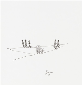 David Syre - Finally Trees! Marker on Paper, Drawings