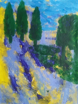 Yu He - Summer Evening No.16 Acrylic on Canvas, Paintings
