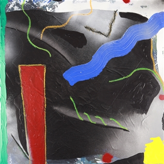 Joseph Masur - The War of Abstraction Acrylic & Pastel on Canvas, Paintings