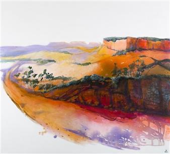 Di Taylor - Dusk Descends Acrylic on Canvas, Paintings