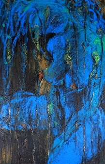 Jian Jun An - Waterlilies 3D Painting, Mixed Media on Canvas, Paintings