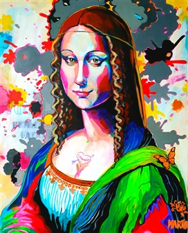 Peter Martin - Mona Lisa Acrylic on Canvas, Paintings