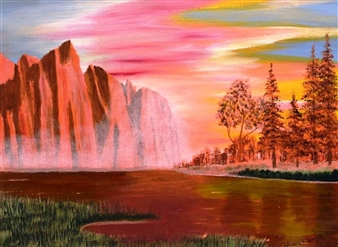 Johan van der Spuy - Yosemite Acrylic on Canvas, Paintings