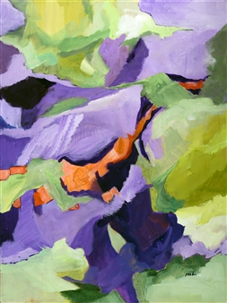 Pauline Rakis - A Walk in the Woods Acrylic on Canvas, Paintings