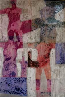 Stefano Sanna - Purple Haze Mixed Media on Paper, Mixed Media