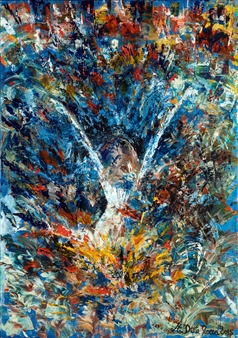 Martina Della Rocca - Feu d'artifice Acrylic on Canvas, Paintings