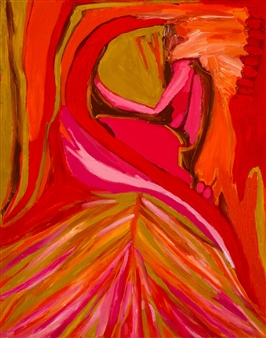 Judy Ann Filipich - In the Womb Oil on Canvas, Paintings