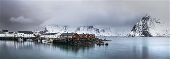 Olga Loschinina - Rorbu (Fisherman Houses) Photograph on Plexiglass, Photography