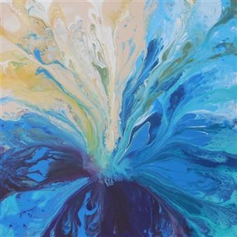 Rita Galambos - Between Dimensions II. Acrylic & Mixed Media on Canvas, Mixed Media