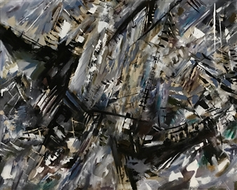 Terry Firkins - Balboa Oil with Mixed Media on Canvas, Mixed Media