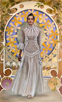 John Britton - Jasie Valentino Oil on Canvas, Paintings