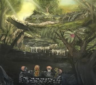 Tsila Mackay - Fantasy to Physical Oil on Canvas, Paintings