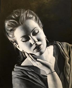 Mehrnosh Kaecker - Silence Oil on paper, Paintings