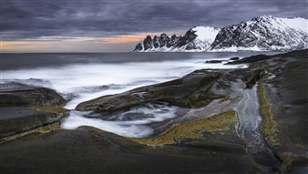 Olga Loschinina - Dragon's Jaw (Norway, Lofoten Islands) Photograph on Plexiglass, Photography