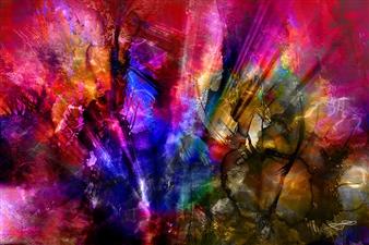 Frédérique Négrié - Vulcanescence 2 Digital Painting on Aluminum, Digital Art