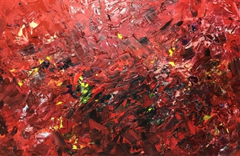 Gui Calil - Caustic Love Acrylic on Canvas, Paintings