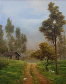 Mauricio Valdiviezo - Camino Oil on Canvas, Paintings
