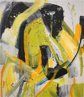 Pauline Rakis - After the Parade Acrylic on Canvas, Paintings