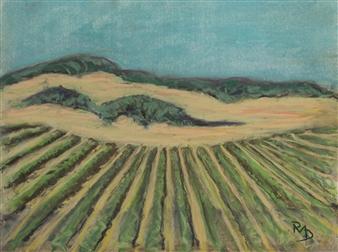 Raul Mariaca Dalence - Sonoma 2 Pastel on Canvas, Paintings
