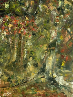 Salwa Almoayyed - Forest Oil on Canvas, Paintings