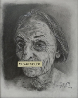 Vanessa Vilchis - Pregiudizio Acrylic & Pencil on Paper, Drawings